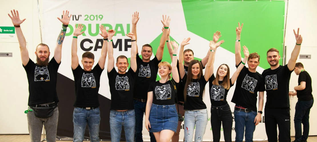 Our team at DrupalCamp in Kyiv, 2019